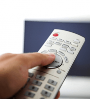 Picture of remote control and TV